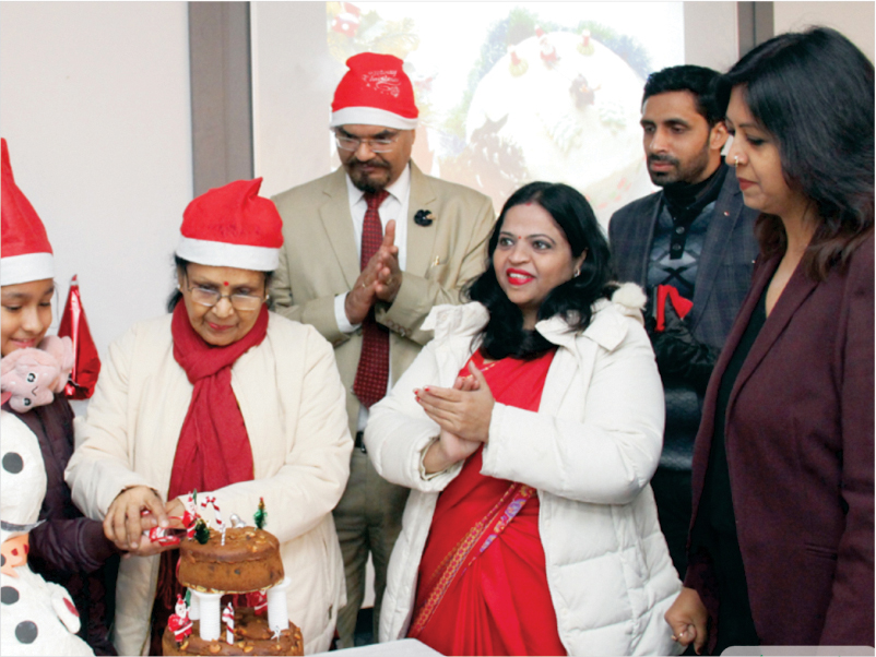 Christmas Celebration at Management College in Noida