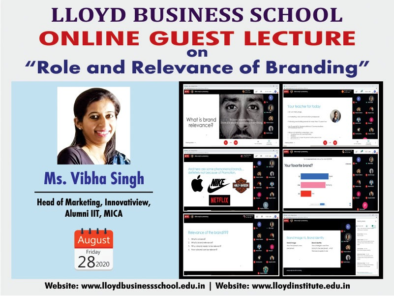 Online Guest Lecture by Ms. Vibha Singh, Head of Marketing, Innovatiview